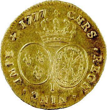 Louis XVI, double louis d'or aux lunettes, 1777 Limoges