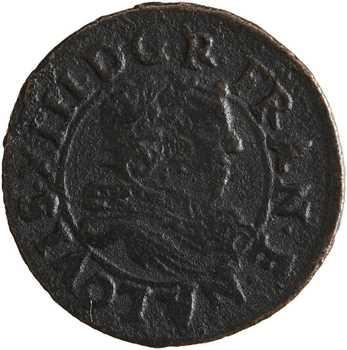 Louis XIII, denier tournois de Navarre, 1635 Saint-Palais