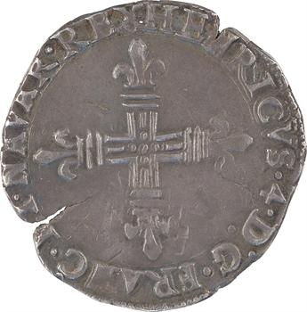 Henri IV, quart d'écu de Navarre (REX), 1609 Saint-Palais