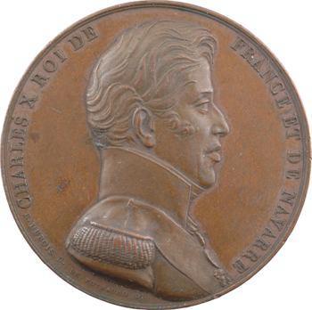Charles X, médaille du sacre à Reims, par Dubois (Sb.108), 1825 Paris