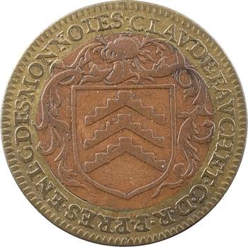 Cour des monnaies, Claude Fauchet, président, jeton bimétallique, s.d. (1590-1599) Paris