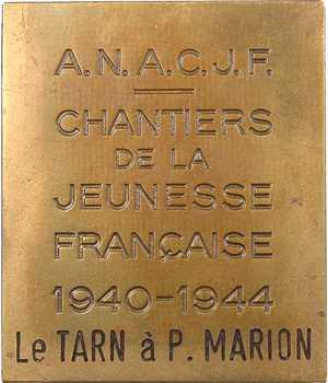 IIe Guerre Mondiale, Amicale Nationale des Anciens des Chantiers de la Jeunesse Française, 1944