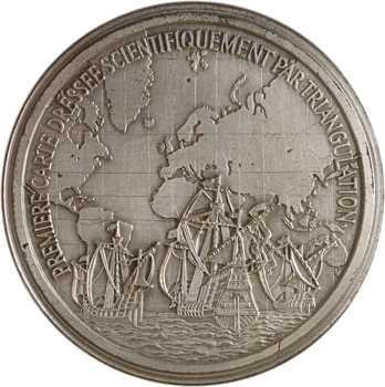 Pays-Bas, Gérard de Kremer, dit Mercator, première carte dressée par triangulation, par Joseph Kapitz, N°10/100, 1972 Paris