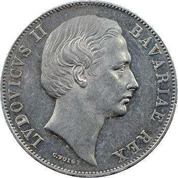 Allemagne, Bavière (royaume de), Louis II, vereinsthaler, 1870 Munich