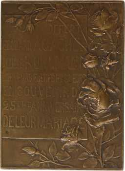 IIIe République, souvenir du 25e anniversaire de mariage d'Édouard Agache, par H. Lefèbvre, 1898 Paris