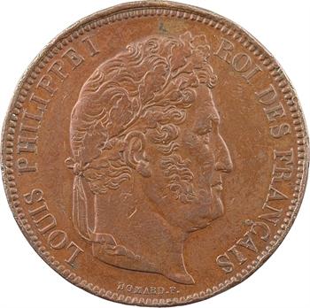 Louis-Philippe Ier, module de 5 francs par Domard, Nantes 1832