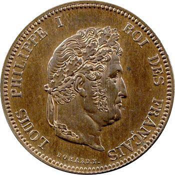 Louis-Philippe Ier, essai de 5 centimes au coq, s.d. Paris