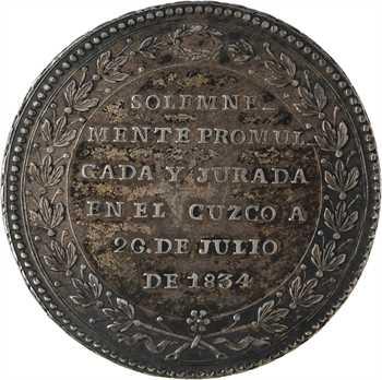 Pérou, proclamation de la Constitution, 1834