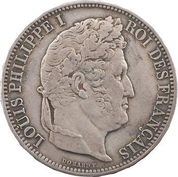 Louis-Philippe Ier, module de 5 francs, visite de la Monnaie de Rouen, 1831 argent