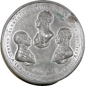 Russie, médaille avec miniatures, Victoire des Alliés sur Napoléon, vers 1815