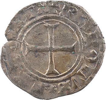 Dauphiné, Viennois (dauphins du), Charles III dauphin et Roi (Charles VII), liard croix de face, s.d. Crémieu