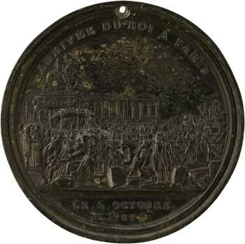 Constitution, arrivée du Roi à Paris, deuxième état du coin, 1789 Paris