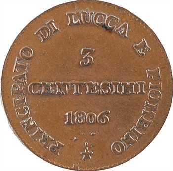 Italie, Lucques et Piombino, 3 centesimi, 1806 Florence