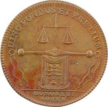 Normandie, Rouen (ville de), monnoyeurs de Rouen, Louis XIV, 1711 (postérieur)