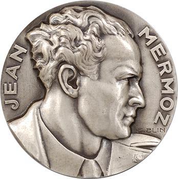 Blin (É.) : hommage à Jean Mermoz, en argent, 1936 Paris