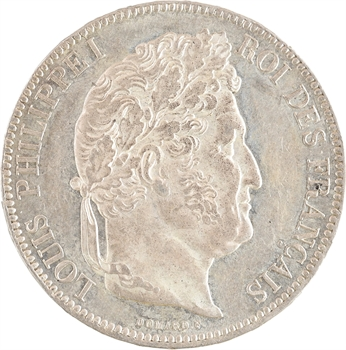 Louis-Philippe Ier, 5 francs IIe type Domard, 1843 Paris PROOFLIKE