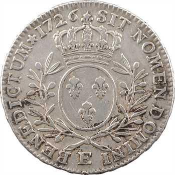 Louis XV, demi-écu aux rameaux d'olivier, 1726 Tours