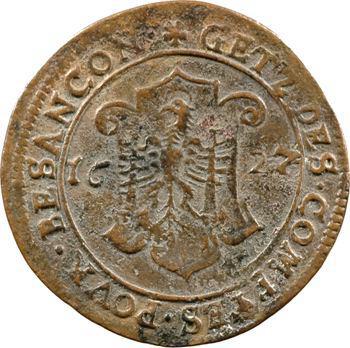 Besançon, jeton des services de comptes de la cité, 1627