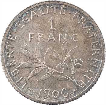 IIIe République, 1 franc Semeuse, 1906 Paris