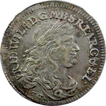 Allemagne, Brandenburg-Prusse (royaume de), Frédéric-Guillaume, tiers de thaler, 1672 Königsb