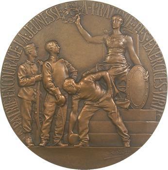 Rivet (Adolphe) : les Sports, fonte de bronze uniface, s.d. Paris