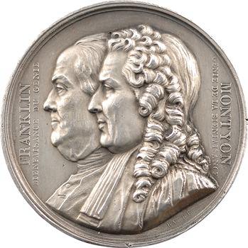Louis-Philippe Ier, la société Franklin et Montyon, par Barre, 1833 Paris