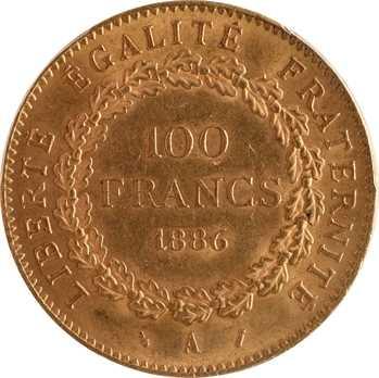 IIIe République, 100 francs Génie, 1886 Paris, PCGS MS64