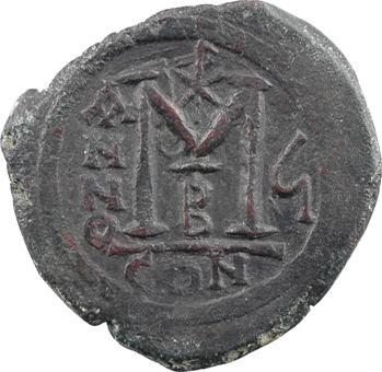 Justin II et Sophie, follis, Constantinople, 2e officine, An 6 = 570-571